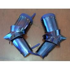 15th Century 3 piece arm harness blued finish